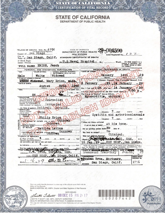 California Death Certificate Copy Stellas Place