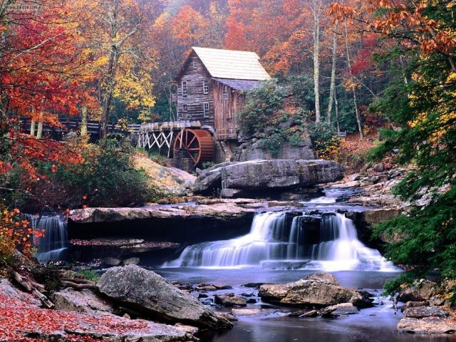 glade_creek_grist_mill_babcock_state_park_west_virginia